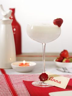 Cherry-Almond Milkshake: A milkshake is a thick cold drink made of milk, ice-cream and fruits or fruit syrup for the flavoring.