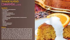 Orange, almond and cinnamon cake