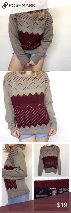 Vintage Daniel Hechter pull over sweater Vintage Daniel Hechter pull over sweater, just in time for Winter! ❄️❄️❄️ Daniel Hechter Sweaters Cardigans