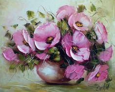 Цветы мастихином от Ewa Bartosik