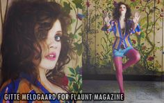 Georgie Henley's oufit at her photoshoot for Flaunt magazine with Gitte Meldgaard.