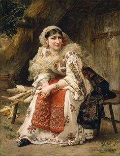 miss-mary-quite-contrary:  junkbondtrader:  Armenian Woman by Frederick Arthur Bridgman, 1882