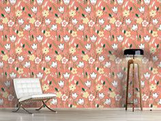 Design #Tapete Wiese In Aprikot Bouquet, Design, Self Adhesive Wallpaper, Summer Flowers, Wall Papers, Bouquets