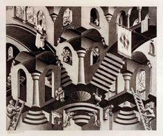 M.C. ESCHER (Dutch, 1898-1972), Convex and Concave, 1955,