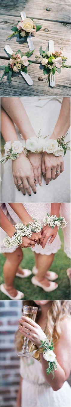 18 Chic and Stylish Wrist Corsage Ideas You Can't Miss! #weddings #weddingideas #weddingdress
