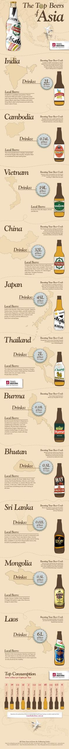 Top Beers of Asia - cool infographic!