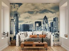 ohpopsi London City Skyline Wall Mural only £42.99 with FREE postage and packaging #ohpopsi