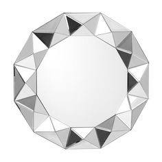 Octagonal faceted wall mirror by Castleton Home from Wayfair
