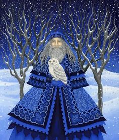 Diane Kremmer - Father Yule :) Father Winter*** going with the flow of the seasons* Christmas Candle, Father Christmas, Blue Christmas, Christmas Images, All Things Christmas, Winter Christmas, Vintage Christmas, Christmas Time, Christmas Crafts