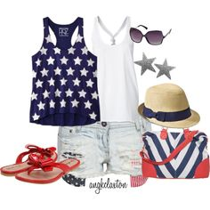 """""""Fourth of July"""" by angkclaxton on Polyvore"""
