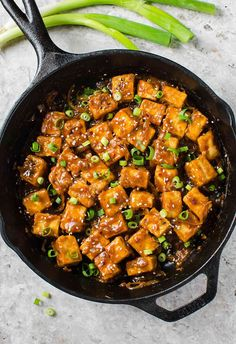 This finger licking, extremely flavorful, Asian chili garlic tofu stir-fry is a perfect meatless dish you can prepare for lunch or dinner. You will become a tofu fan once you try it. Vegetarian Recipes Dinner, Tofu Recipes, Vegan Dinners, Asian Recipes, Healthy Recipes, Healthy Eats, Skillet Recipes, Healthy Dinners, Pumpkin Recipes