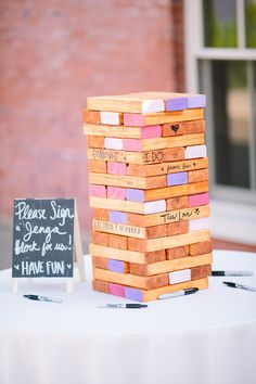 Giant Jenga Guestbook http://www.significanteventsoftexas.com