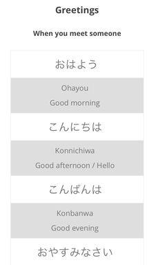 160 best learn japanese hiragananinja images on pinterest ninja japanese greetings httpnihongo learningpcwp m4hsunfo