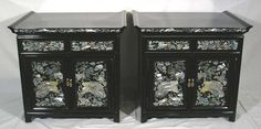 Korean Armoire With Mother Of Pearl Inlay Mothers Posts And Vintage