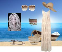"""""""Beach Getaway"""" by candace-b ❤ liked on Polyvore"""