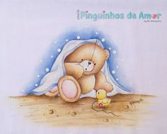 Tatty Teddy, Teddy Bear, Cartoon Drawings Of Animals, Cute Cartoon Animals, Art Drawings Sketches, Smurfs, Decoupage, Animation, Prints