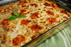 Squash and Spinach Pasta Casserole Recipe with Caramelized Onions ...