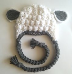 Little Lamb Crochet Hat,  So simple to make