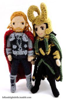 Thor and Loki by ~leftandrightdolls on deviantART