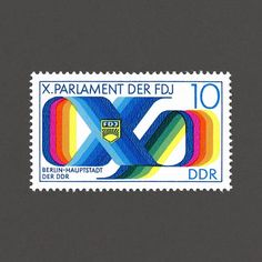 10th Youth Parliament Congress. East Germany (DDR), 1976. Design: Joachim Rieß. #graphilately #mnh #graphigermany