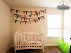 hanging bunting in nursery - Google Search
