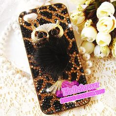 Bling Bling Luxury Owl iPhone 4 Case Rhinestone by Elodieforever, $29.99