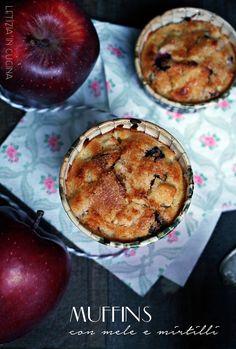 Letizia in Cucina: Muffin mele e mirtilli - Cakes Lab
