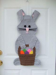Easter Bunny Door Hanging Crochet Pattern