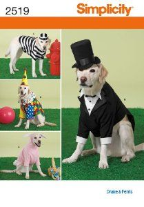 Simplicity 2519 Large Size Dog Costumes Sewing Pattern: from $19.75 [ http://sewingpatterns.osx128.com/simplicity-2519-large-size-dog-costumes-sewing-pattern/ ] #GraffitiLensSewingPatterns