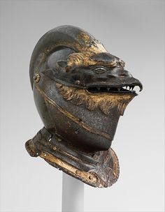 Helmet ca. 1550 via The Metropolitan Museum of Art