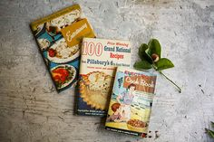 Vintage Cookbook Bundle Stack Three fabulous by SunchowdersVintage, $18.00