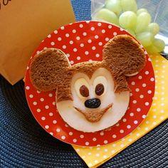 Mickey Mouse sandwich #recipe #Disney