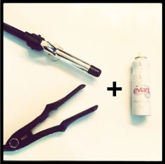 the best trick for when you've over curled or over flat ironed your hair!