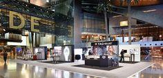 Innovative merchandising  display  at Hamad  International  Airport Qatar