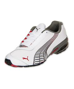 PUMA White   Ribbon Red Cell Jago 8 Leather Running Shoe e06c869de