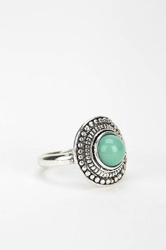 Oval Turquoise Ring - Urban Outfitters