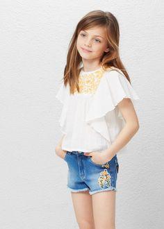 Blouse coton broderie -  Enfants   MANGO Kids Belgique