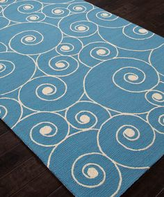 crafty design teal area rug. Blue  Ivory Swirl Indoor Outdoor Rug zulily Enchanting plush area rug at an affordable price with a modern