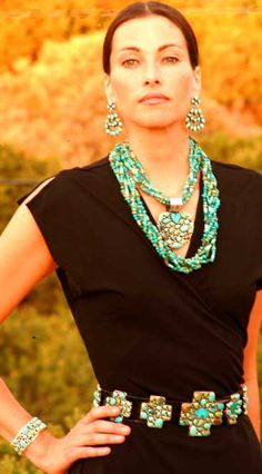 Front Porch Texas: NEW DESIGN - Rocki Gorman TURQUOISE RAIN CLOUD Chandelier Earrings!