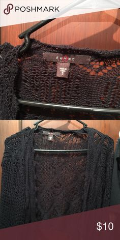 Fever black lace cover up Fever black lace cover up fever Sweaters Shrugs & Ponchos