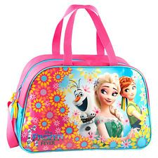 82c73f70cb97 Disney Frozen Fever Gym Bag Duffle Sports Swim Shoes PE Dance Travel Girls