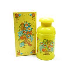 Avon Roses Roses Creamery Decanter Vintage Yellow Milk Can Perfume Bottle