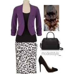 """""""Leopard and purple"""" by modeststyle-studio on Polyvore"""