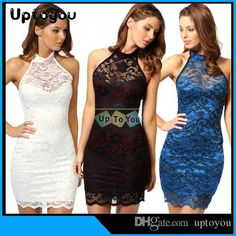 Europe And the United States in the Summer New Sexy Nightclub Sleeveless Lace Dress Package Buttocks Dress from Uptoyou,$6.34 | DHgate.com