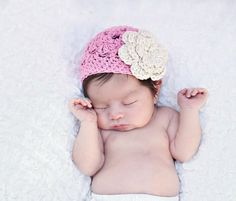Hey, I found this really awesome Etsy listing at http://www.etsy.com/listing/73729016/crochet-girls-hat-newborn-hat-pink-and