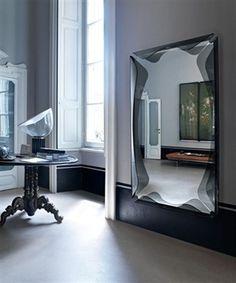 Fiam Italia Gallery Wall Mirror Glass 12Wx162Hx90CM - Medium / Free Delivery at www.mayfairhomefurniture.com