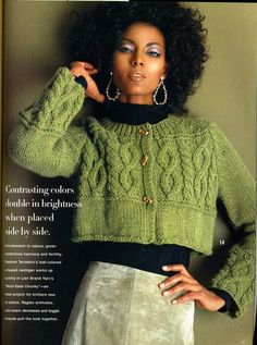 "Photo from album ""жакеты спицами"" on Yandex. Vogue Knitting, Knitting Books, Arm Knitting, Sweater Knitting Patterns, Knitting Designs, Knit Patterns, Knitting Magazine, Crochet Magazine, Moda Crochet"