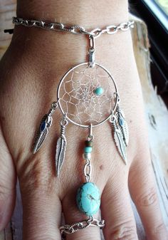 Bohemian Dreamcatcher Slave Bracelet Boho by PurpleFinchStore. $24.99 USD, via Etsy.