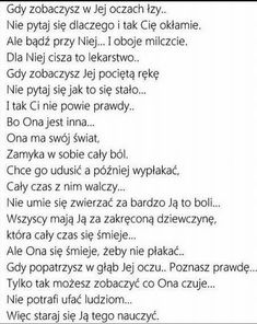 Nie pytaj się.. Sad Quotes, Life Quotes, Life Sentence, Im Not Okay, Sad Love, Good Advice, Motto, Peace And Love, Quotations