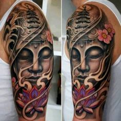 Awsome half sleeve tattoo design. That is some of the best work I've seen!